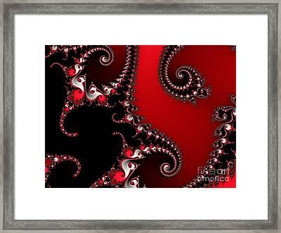 The Red And Black Framed Print by Tatjana Popovska