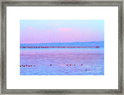 The Red Pier . 7d12310 Framed Print by Wingsdomain Art and Photography
