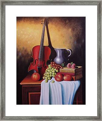 The Red Violin Framed Print by Gene Gregory
