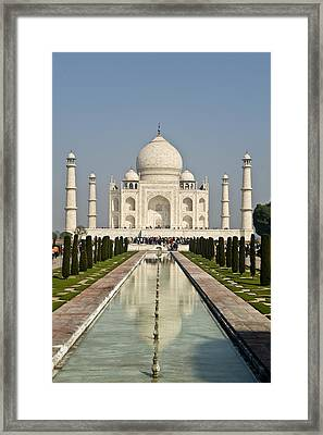 The Reflecting Pool In The Charbagh Or Framed Print by Lori Epstein