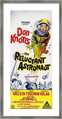 The Reluctant Astronaut, Upper Right Framed Print by Everett