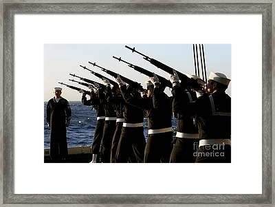 The Rifle Detail Aboard Framed Print by Stocktrek Images