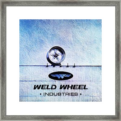 The Rim At Weld Wheels Industries  Framed Print by Andee Design