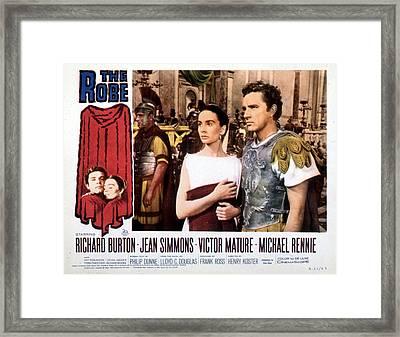 The Robe, Jean Simmons, Richard Burton Framed Print by Everett