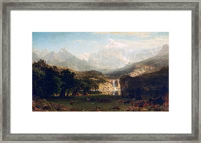 'the Rocky Mountains' By Albert Bierstadt Framed Print by Photos.com
