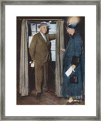 The Roosevelts Voting Framed Print by Granger