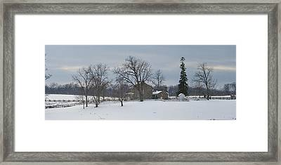 The Rose Farm In The Snow At Gettysburg Framed Print by Greg Dale