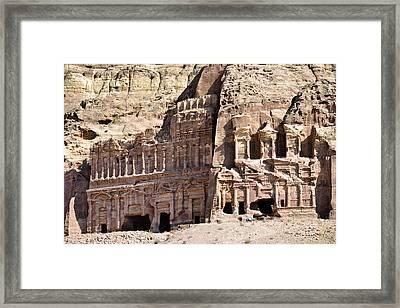 The Royal Tombs Petra, Jordan Framed Print by Marco Brivio
