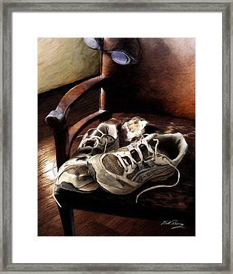 The Runner Framed Print by Bill Fleming