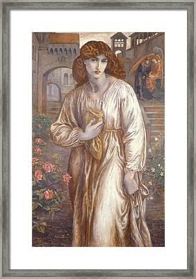 The Salutation  Framed Print by Dante Charles Gabriel Rossetti