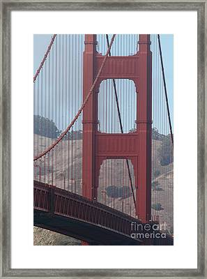 The San Francisco Golden Gate Bridge - 7d19061 Framed Print by Wingsdomain Art and Photography