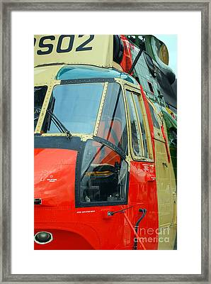 The Sea King Helicopter Used Framed Print by Luc De Jaeger