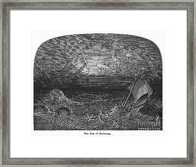 The Sea Of Darkness Framed Print by Granger