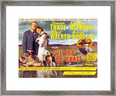 The Sea Of Grass, Spencer Tracy Framed Print by Everett
