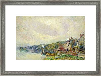 The Seine At Croisset Framed Print by Albert Charles Lebourg