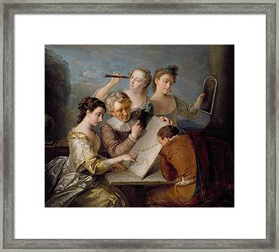 The Sense Of Sight Framed Print by Philippe Mercier