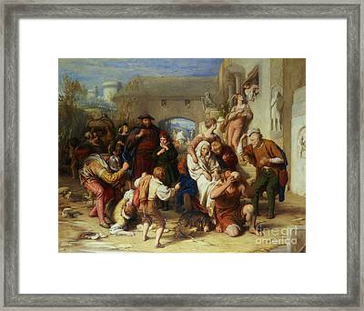 The Seven Ages Of Man Framed Print by William Mulready