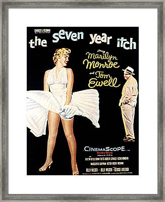 The Seven Year Itch, The, Marilyn Framed Print by Everett