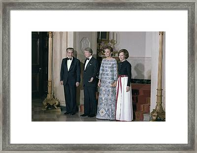 The Shah Of Iran Jimmy Carter Framed Print by Everett