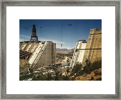 The Shasta Dam Under Construction. It Framed Print by Everett