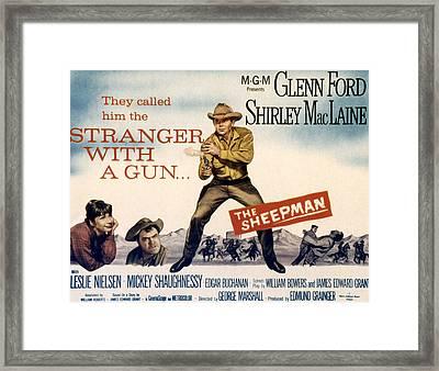The Sheepman, Shirley Maclaine, Mickey Framed Print by Everett