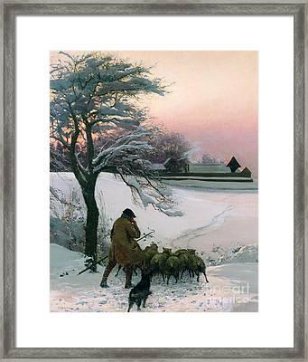 The Shepherd Framed Print by EF Brewtnall
