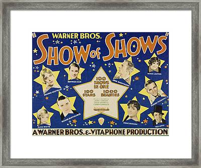 The Show Of Shows, Clockwise Framed Print by Everett