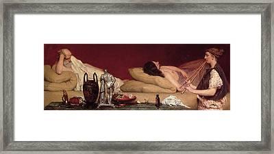 The Siesta Framed Print by Sir Lawrence Alma-Tadema