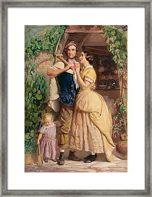 The Sinews Of Old England Framed Print by George Elgar Hicks