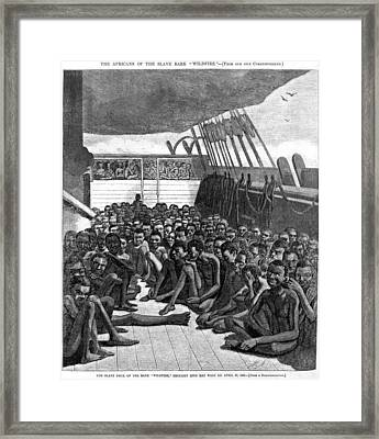 The Slave Deck Of The Ship Wildfire Framed Print by Everett
