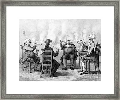The Smoking Club Framed Print by Granger