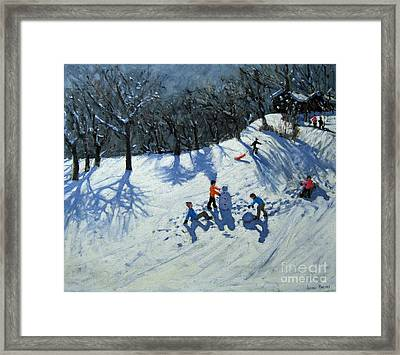 The Snowman  Framed Print by Andrew Macara