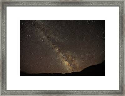 The Southern Milky Way Above Meteor Framed Print by Stephen Alvarez