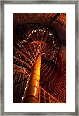 The Spiral At Barnegat Framed Print by Skip Willits