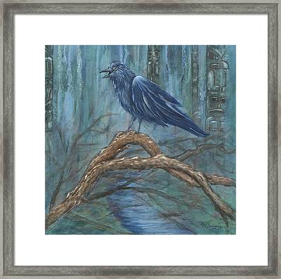 The Spirit Of Trickster Framed Print by Melodie Douglas