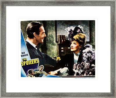 The Spoilers, From Left Randolph Scott Framed Print by Everett