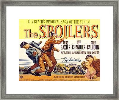 The Spoilers, Rory Calhoun, Jeff Framed Print by Everett
