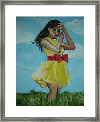The Spring Bow Dress Framed Print by Adam Kissel