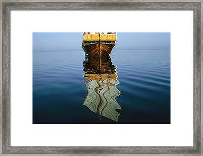 The Square-rigged Hansekogge Framed Print by Sisse Brimberg