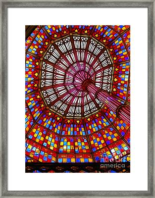 The Stained Glass Ceiling Framed Print by Judi Bagwell