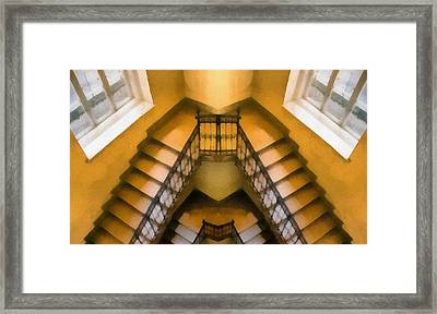 The Staircase Reflection Framed Print by Odon Czintos