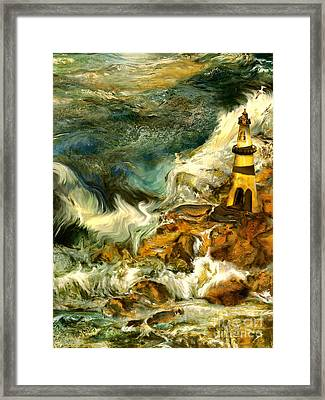 The Steadfast Lighthouse Framed Print by Anne Weirich