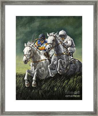 The Steeplechase Framed Print by Thomas Allen Pauly