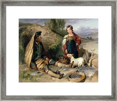 The Stone Breaker And His Daughter Framed Print by Sir Edwin Landseer