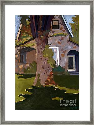 The Stone House On Laughing Waters Framed Print by Charlie Spear