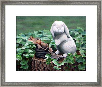 The Stone Rabbit Framed Print by Sandra Chase