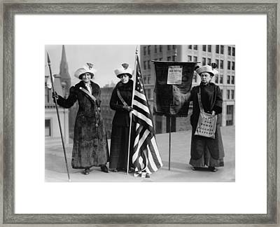The Suffrage Hike Of 1912 Framed Print by Everett