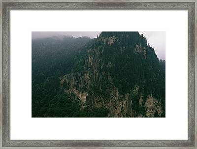 The Sumela Monastery Clings To Mountain Framed Print by Randy Olson
