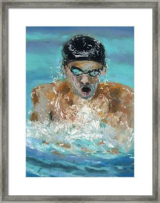 The Swimmer Framed Print by Paul Mitchell