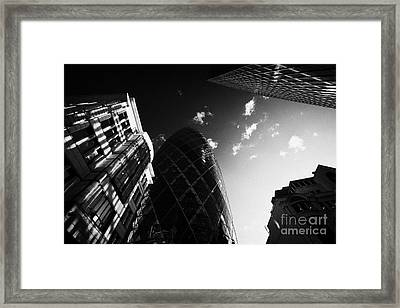 The Swiss Re Gherkin Building At 30 St Mary Axe City Of London England Uk United Kingdom Framed Print by Joe Fox